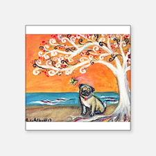Pug ~the beauty of orange Sticker