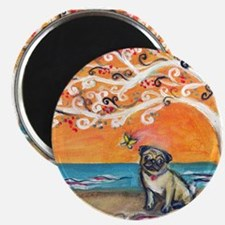 "Pug ~the beauty of orange 2.25"" Magnet (10 pack)"