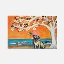 Pug ~the beauty of orange Rectangle Magnet (10 pac
