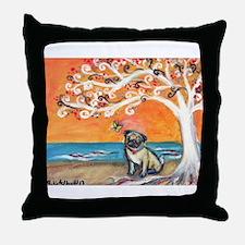 Pug ~the beauty of orange Throw Pillow