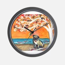 Pug ~the beauty of orange Wall Clock