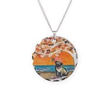 Pug ~the beauty of orange Necklace