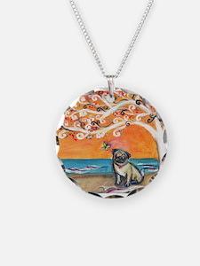 Pug ~the beauty of orange Necklace