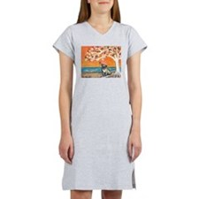 Pug ~the beauty of orange Women's Nightshirt