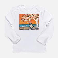 Pug ~the beauty of orange Long Sleeve T-Shirt