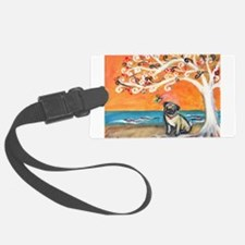 Pug ~the beauty of orange Luggage Tag