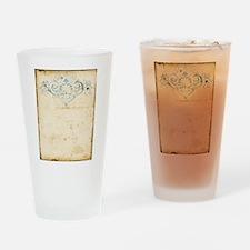 Vintage Damask Scroll Drinking Glass