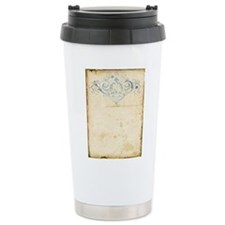 Vintage Damask Scroll Travel Mug