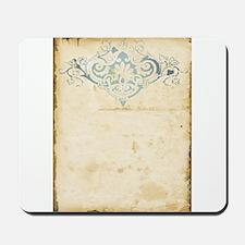 Vintage Damask Scroll Mousepad