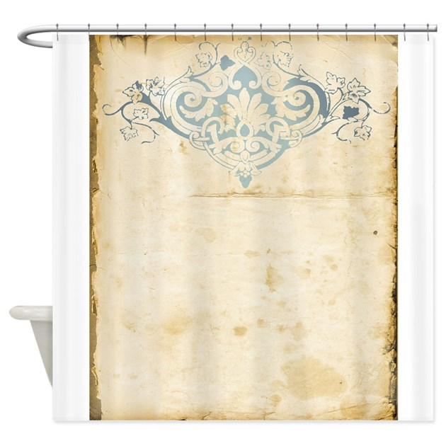 Vintage Damask Scroll Shower Curtain By Weddinglittletreasures