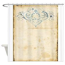 Vintage Damask Scroll Shower Curtain