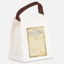 Vintage Damask Scroll Canvas Lunch Bag
