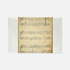 Vintage Music Sheet Rectangle Magnet