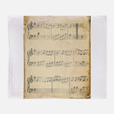 Vintage Music Sheet Throw Blanket