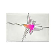 Nazca Lines Hummingbird Rectangle Magnet