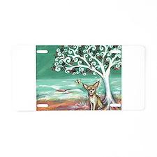 chihuahua spiritual love tree Aluminum License Pla