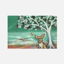 chihuahua spiritual love tree Rectangle Magnet