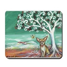 chihuahua spiritual love tree Mousepad