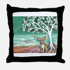 chihuahua spiritual love tree Throw Pillow