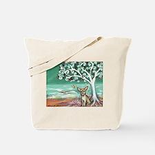chihuahua spiritual love tree Tote Bag