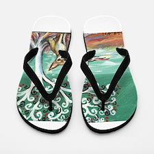 chihuahua spiritual love tree Flip Flops