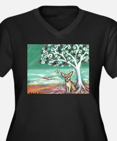 chihuahua spiritual love tree Plus Size T-Shirt