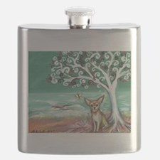 chihuahua spiritual love tree Flask