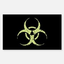 Biohazard -dist -green Oval Decal