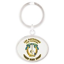DUI - 1st Battalion 7th Cav VN 65 Oval Keychain