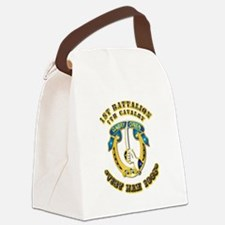 DUI - 1st Battalion 7th Cav VN 65 Canvas Lunch Bag