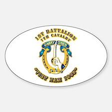 DUI - 1st Battalion 7th Cav VN 65 Sticker (Oval)