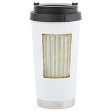 Vintage Blue Stripes Travel Mug