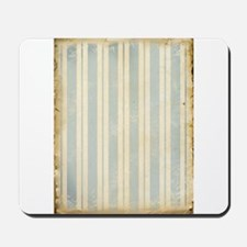 Vintage Blue Stripes Mousepad