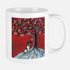 Rat Terrier love hearts spiritual tree Mug