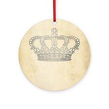 Vintage Royal Crown Ornament (Round)