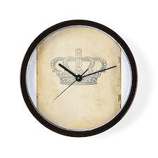 Vintage Royal Crown Wall Clock