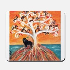Schipperke spiritual tree Mousepad