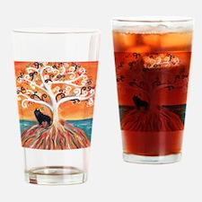 Schipperke spiritual tree Drinking Glass