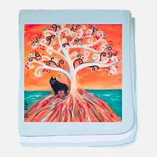 Schipperke spiritual tree baby blanket