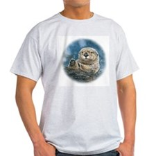Sea Otter Ash Grey T-Shirt