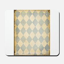 Vintage Blue Diamond Print Mousepad