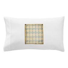 Vintage Blue Diamond Print Pillow Case