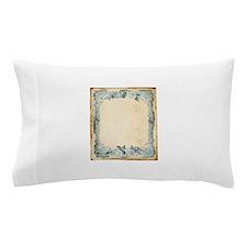 Vintage Blue Roses Frame Pillow Case