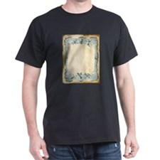 Vintage Blue Roses Frame T-Shirt