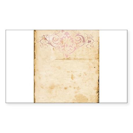 Vintage Pink Damask Scroll Sticker
