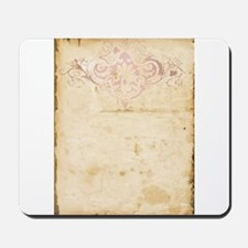 Vintage Pink Damask Scroll Mousepad