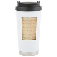 Vintage Pink Music Sheet Travel Mug
