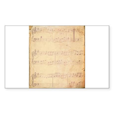 Vintage Pink Music Sheet Sticker