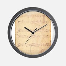 Vintage Pink Music Sheet Wall Clock