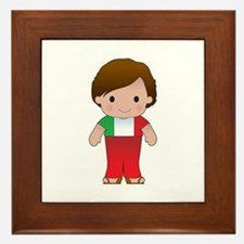 Poppy Italian Boy Framed Tile
